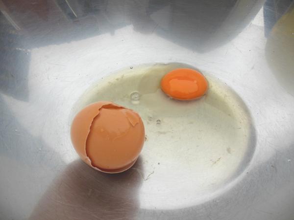 ピータン作りに失敗した卵