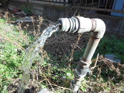大寒の井戸水